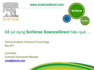 Để sử dụng  SciVerse ScienceDirect  hiệu quả …