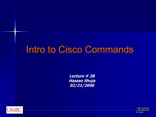 Intro to Cisco Commands