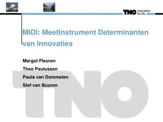 MIDI: MeetInstrument Determinanten van Innovaties