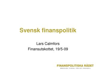 Svensk finanspolitik