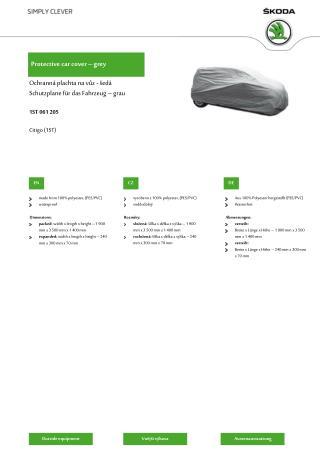 Protective  car  cover –  gre y