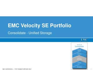 EMC Velocity SE Portfolio