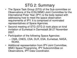 STG 2: Summary