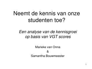Neemt de kennis van onze studenten toe?