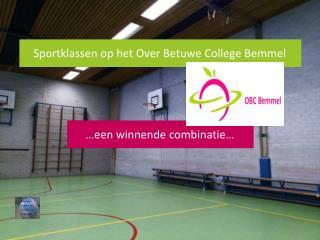 Sportklassen op het Over Betuwe College Bemmel