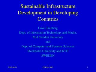 Sustainable Infrastructure Development in Developing Countries