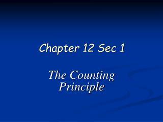 Chapter 12 Sec 1