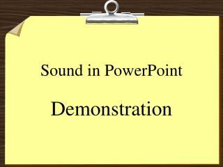 Sound in PowerPoint