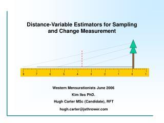 Distance-Variable Estimators for Sampling and Change Measurement