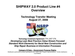 SHIPWAY 2.0 Product Line #4 Overview