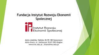 Fundacja Instytut Rozwoju Ekonomii Społecznej