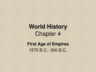 World History Chapter 4