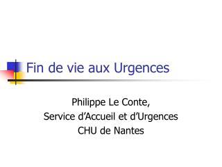 Fin de vie aux Urgences
