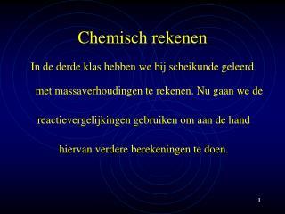 Chemisch rekenen