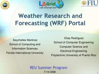 Weather Research and Forecasting (WRF) Portal