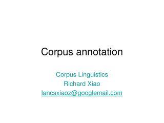 Corpus annotation