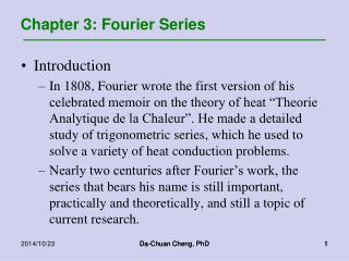 Chapter 3: Fourier Series