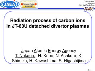 Radiation process of carbon ions  in JT-60U detached divertor plasmas