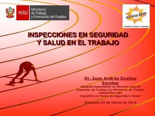 Dr. Juan Andrés Dueñas Escobar Abogado Especialista en Derecho Laboral