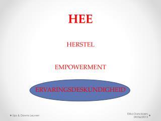 HEE HERSTEL   EMPOWERMENT  ERVARINGSDESKUNDIGHEID