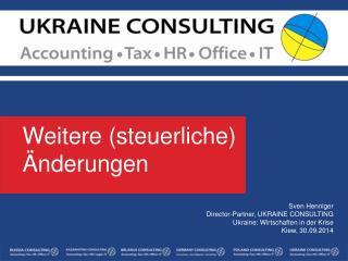 Weitere  ( steuerliche )  Änderungen