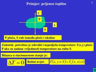Primjer: prijenos topline