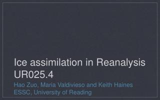 Ice assimilation in Reanalysis UR025.4