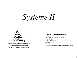 Systeme II