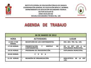 INSTITUTO ESTATAL DE EDUCACIÓN PÚBLICA DE OAXACA COORDINACIÓN GENERAL DE EDUCACIÓN BÁSICA Y NORMAL
