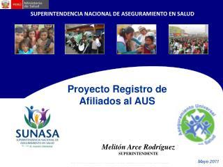 Proyecto Registro de Afiliados al AUS