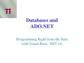 Databases and ADO.NET