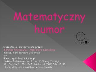 Matematyczny humor