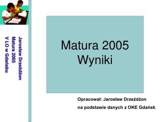 Matura 2005 Wyniki