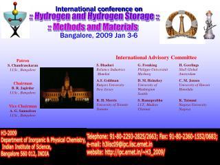 International conference on Bangalore, 2009 Jan 3-6