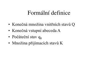 Formální definice