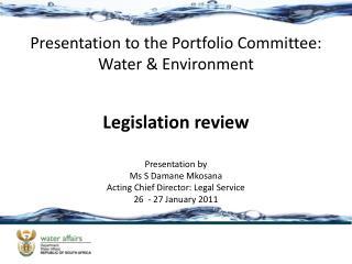 Legislation review