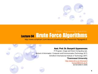 Brute Force Algorithms