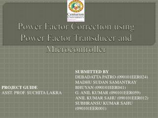 Power  Factor Correction using Power Factor Transducer and  Microcontroller