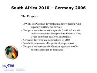 South Africa 2010 – Germany 2006