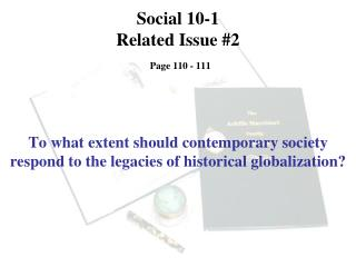 Social 10-1 Related Issue #2 Page 110 - 111