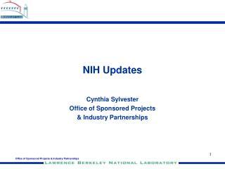 NIH Updates