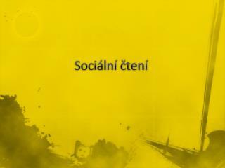 Sociální čtení