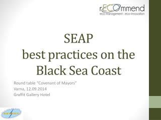SEAP  best practices on the Black Sea Coast