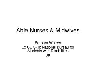 Able Nurses & Midwives
