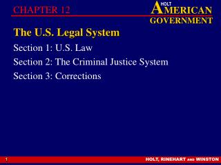 The U.S. Legal System