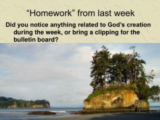 """""""Homework"""" from last week"""