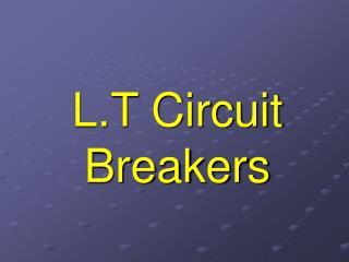L.T Circuit Breakers