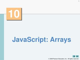 JavaScript: Arrays