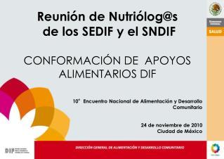 10°Encuentro Nacional de Alimentación y Desarrollo Comunitario 24 de noviembre de 2010