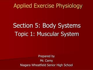 Applied Exercise Physiology